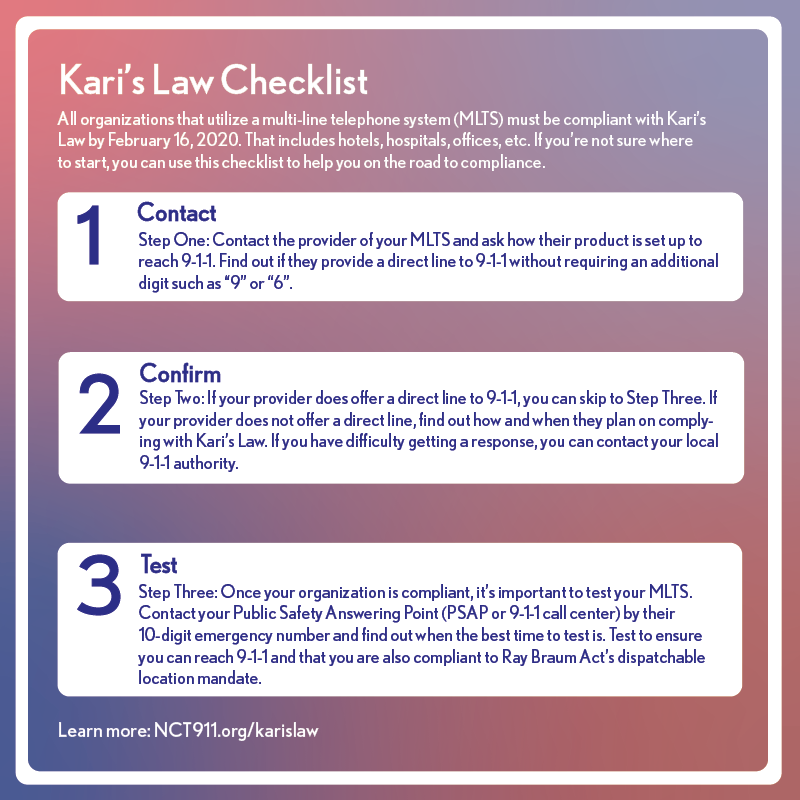 How to become compliant with kari's law